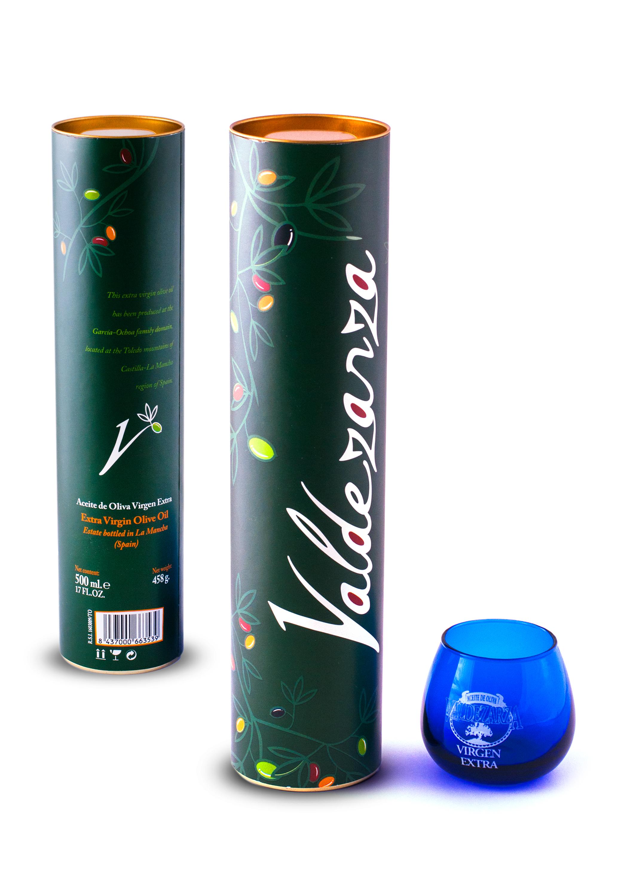 Packaging tubo de cartón y vaso de cata
